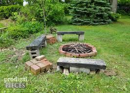 how to make a backyard fire pit diy fire pit backyard budget decor prodigal pieces