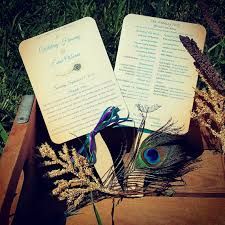 peacock wedding programs paper fans peacock wedding programs wedding program fans