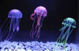 glowing artificial jellyfish silicone fish tank decor