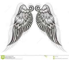 wings tattoo stock photography image 35644002