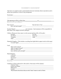 Outside Sales Resume Examples 40 Free Roommate Agreement Templates U0026 Forms Word Pdf