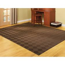essential home diamond remnant rug 7 5 x 9 5 chocolate