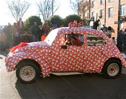 car wrapped in wrapping paper thoughts and musings signs of a mayberry christmas pt 2