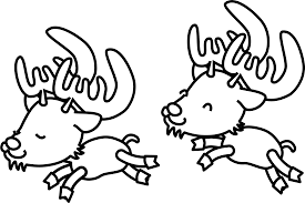 clipart caribou coloring page