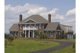 federal style house plans home plan homepw26674 4489 square foot 4 bedroom 4 bathroom