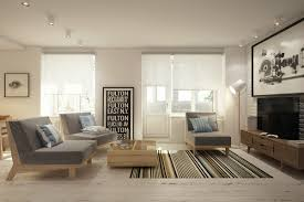 Glass Front Living Room Cabinets Interior Integrated Living Room And Dining Room Divided By White