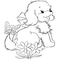 beautiful cute puppy coloring pages 22 seasonal colouring pages
