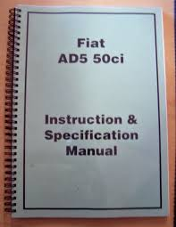 fiat operators manual ad5 50ci dozer