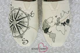 Personalized World Map by Travel Compass And World Map Toms Shoes In Black Custom