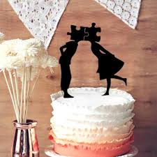 Unique Wedding Cake Toppers Unique Wedding Anniversary Cake Topper Design Funny Puzzle Groom
