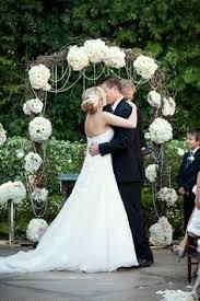 wedding arch no flowers alyssa alkema vintage wedding outdoor ceremony dundurn