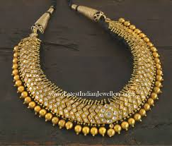 indian bead jewelry necklace images South indian traditional gold choker necklace jewellery necklaces jpg
