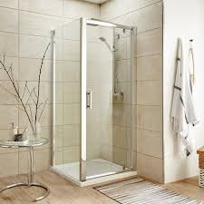 900mm Shower Door Premier Pacific Pivot Shower Door 900mm Wide 6mm Glass Flush Bathr