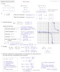 math plane algebra ii review 3