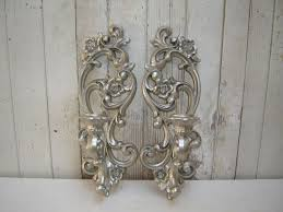 Wall Candle Sconce Silver Candle Sconces For Wall Candle Holders Metal Hanging