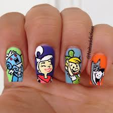 youth inspired cartoon nail art u2026throwback thursdays approved