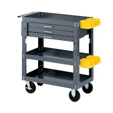Work Bench With Storage Edsal 28 In W X 16 In D Mobile Workbench With Storage Scmb20048