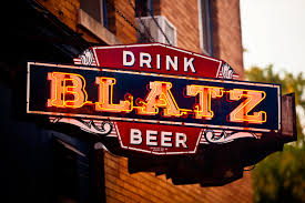 drink blatz beer neon sign print home bar decor man cave