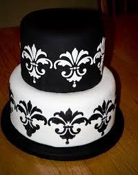 wedding cakes small black and white wedding cake
