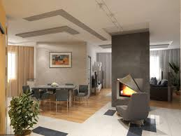 apartment impressive living room in parquet flooring interior
