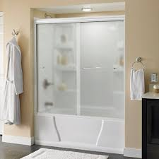 shower doors showers the home depot simplicity 60 in x 58 1 8 in semi framed sliding