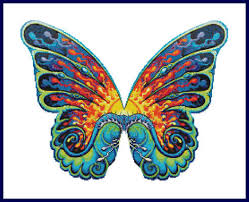 click for more details of butterfly cross stitch pattern by the