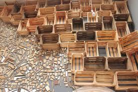 wooden interior design reclaimed wood used to design gallery interior design milk