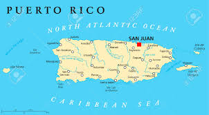 Map Of United States And Capitals by Puerto Rico Political Map With Capital San Juan A United States