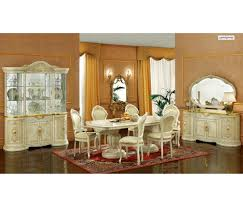 Italian Lacquer Dining Room Furniture Leonardo Dining Room Set In Ivory Lacquer Finish By Camelgroup