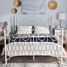 White Metal Bed Frame Queen Queen Bed White Metal Queen Bed Steel Factor
