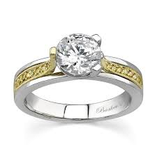 two engagement ring barkev s two tone engagement ring with yellow diamonds 7214ly
