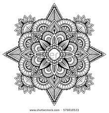 tribal mandala design set vintage decorative stock vector