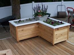 Deck Planters And Benches - corner planter box yard ideas pinterest corner deck