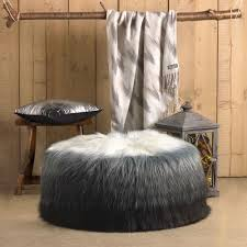 Restoration Hardware Faux Fur Faux Fur Bean Bag Ira Design