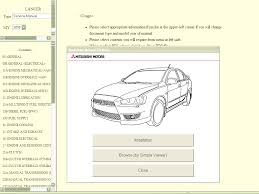 mitsubishi lancer x 2009 service manual repair manual order u0026 download