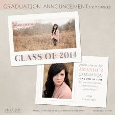 senior graduation announcement templates the 25 best graduation announcement template ideas on