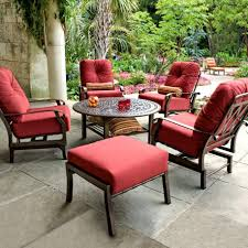 mainstays outdoor patio dining chair cushion red tropical