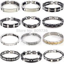bracelet link styles images Hot men 39 s stainless steel link chain bracelet wristband bangle jpg