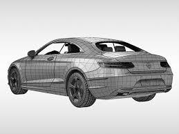 logo mercedes benz 3d 3d model mercedes benz s class coupe 2015 cgtrader