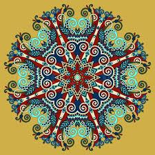 mandala circle decorative spiritual indian symbol of lotus flower