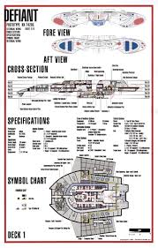 Starship Floor Plan Star Trek Blueprints Defiant Class Nx 74205 Starship Prototype