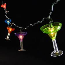 Novelty Patio Lights 2 Pcs Lights Margarita String Lights 10 Multicolor Glasses