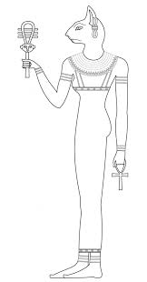 ancient egypt coloring page bastet egypt goddess of warfare ancient egypt coloring pages