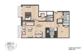 Den Floor Plan Leased Apartment 201 1 Bedroom 1 Den 2 Bathrooms Liberties