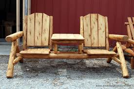 Cedar Outdoor Log Furniture Tables Chairs More - Cedar outdoor furniture