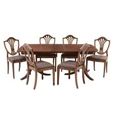 Mahogany Dining Room Furniture Vintage Hepplewhite Style Mahogany Dining Set Ebth