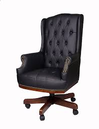 Leather Office Desk Chair Luxury Managers Executive Directors Chesterfield Antique Captain