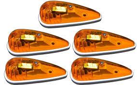 led clearance lights motorhomes 5 pack of amber truck rv cab marker lights teardrop shape