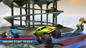 monster truck crash video 4x4 monster truck impossible stunt driving android apps on