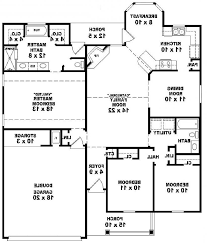 Colonial Style Floor Plans Home Design 3 Bedroom Bungalow House Floor Plans Designs Single